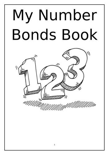 My Number Bonds Book - 38 Page Number Bonds (2-10) Activity Book.