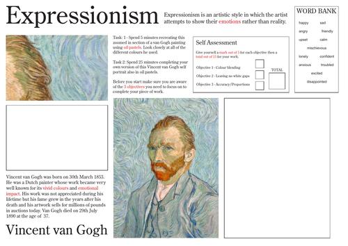 Vincent van Gogh Expressionism Worksheet