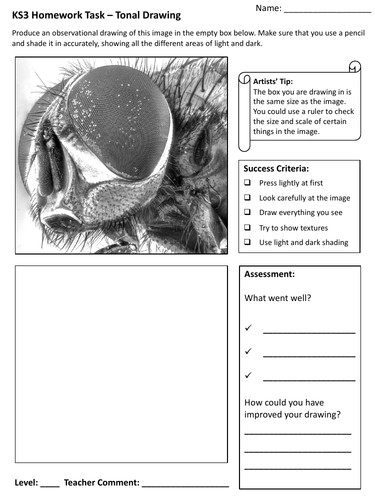 KS3 Art Homework Worksheets - Set of 12