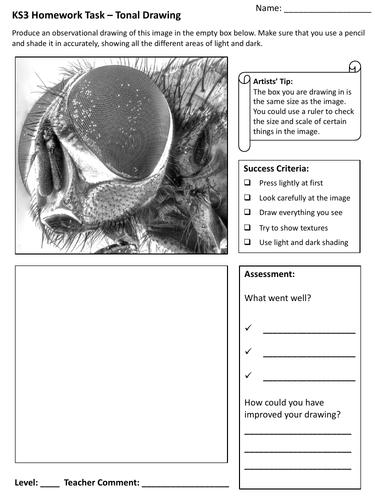 KS3 Art Homework Worksheets - Set of 12