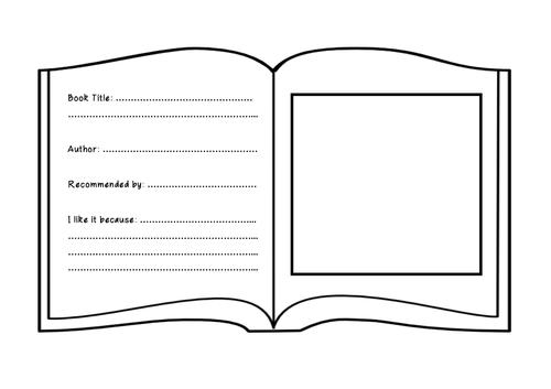 Book Recommendation Worksheet