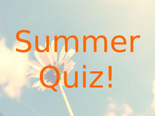 Summer Quiz 2019