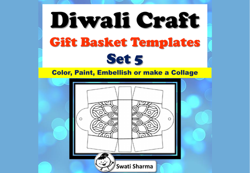 Diwali Craft, Gift Basket Templates, Pattern Coloring, Set 5