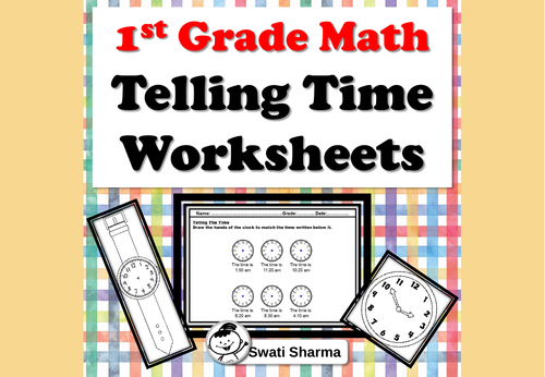 1st Grade Math, Telling Time Worksheets