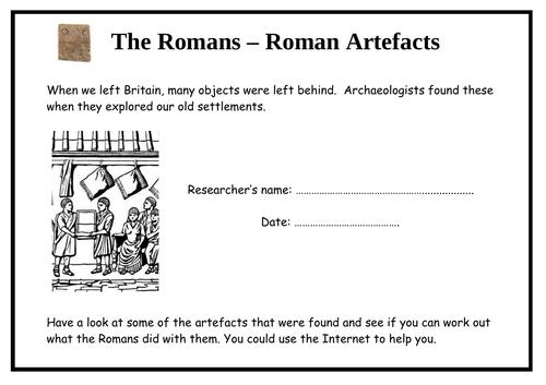 Romans - Roman Artefacts (4-page booklet)