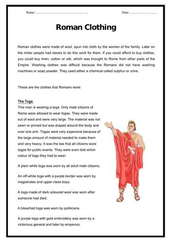 The Romans - Roman Clothing