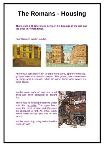 The Romans - Roman Housing