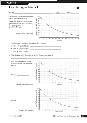 Half Life (Lesson + worksheets) - AQA P7