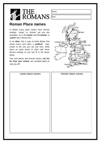 The Romans - Roman Place Names
