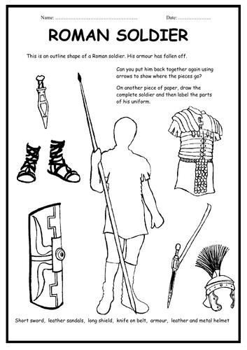 The Romans - Roman Soldier Worksheets