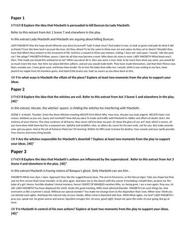 essay about macbeth