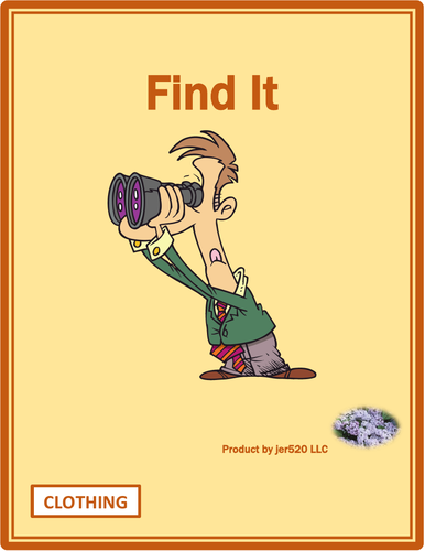 Clothing in English Find it Worksheet
