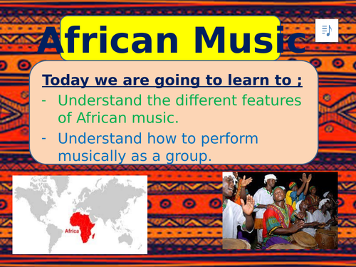 African Music Intro lesson