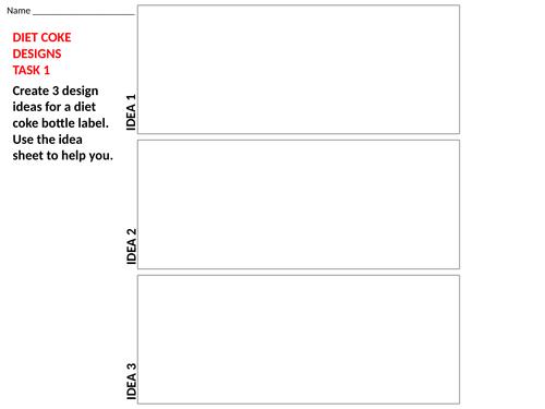 Cover work - Diet coke label design