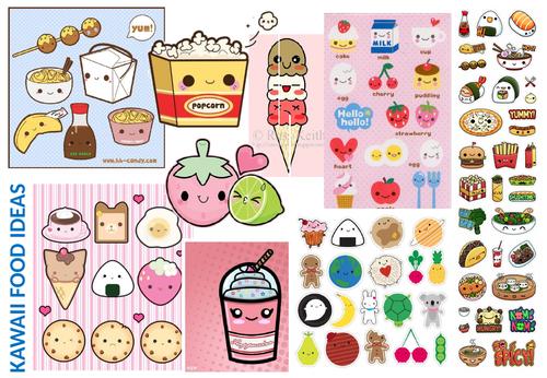 Cover work - Kawaii food character design tasks