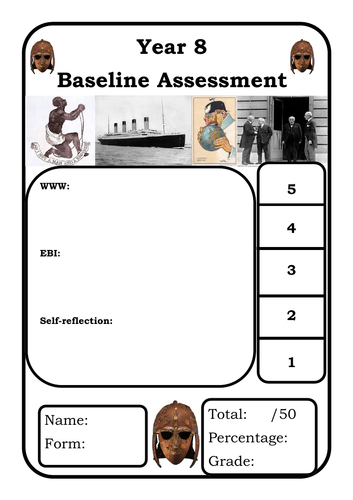 Y8 Baseline Assessment Edexcel style - could be used for G&T Y7