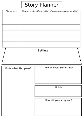Story Planner Template