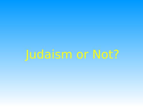 Judaism True or False