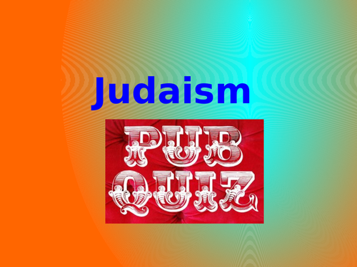 Judaism Pub Quiz