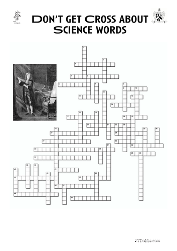 End of term Science crossword