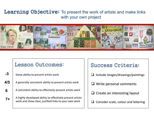 GCSE Art - Artist Study Lesson
