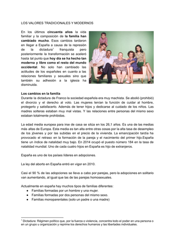 Spanish A level topics año1