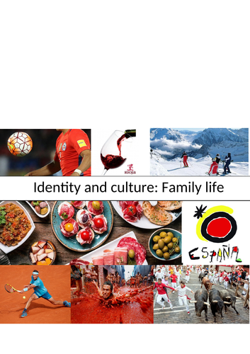 GCSE Spanish: Life In Spain: Family Life (cultural knowledge; cover work)