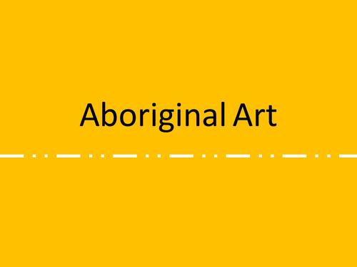 Aboriginal Art Project KS2/KS3
