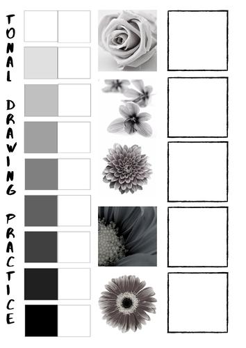Tonal Drawing Practice worksheets