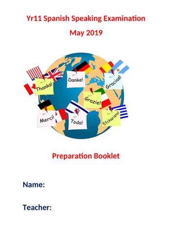 GCSE Spanish speaking exam preparation booklet