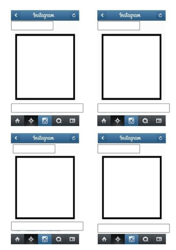 Blank Instagram