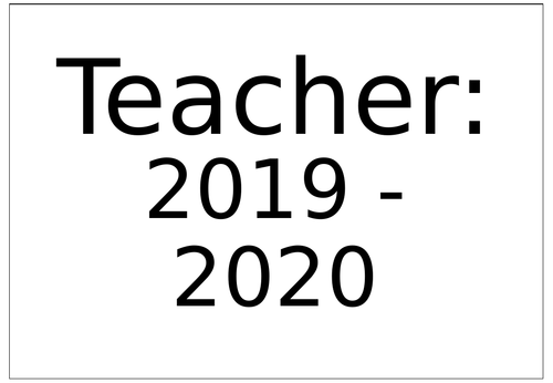 2019-20 Teacher Organisation Planner