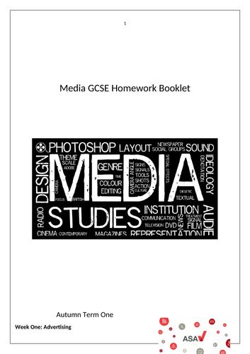 Homework booklet for GCSE Media Studies