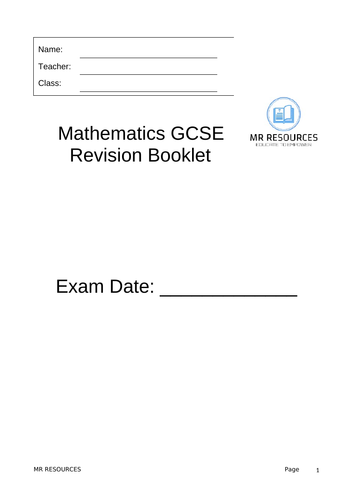 GCSE Maths 9-1 Revision Booklet