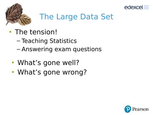 Edexcel A level Maths Large Data Set Activities