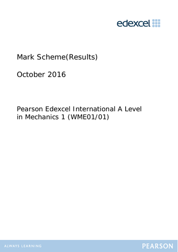 Edexcel A level Maths Applied Past Papers and Mark schemes