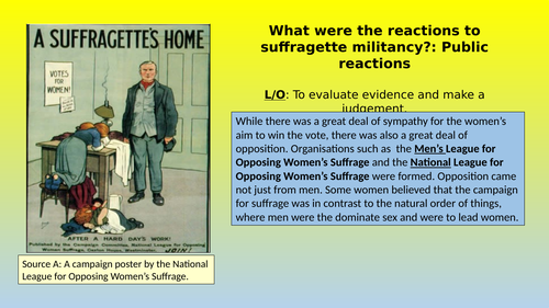 Public Reactions to the Suffragettes