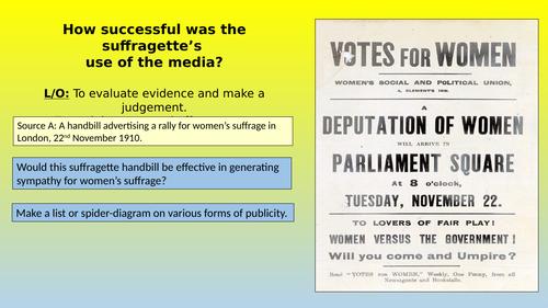 Suffragettes & publicity