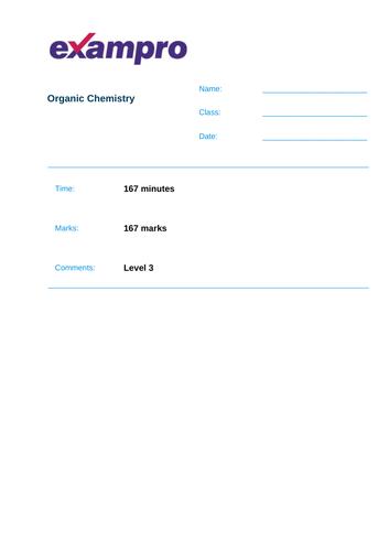 Chemistry Unit 7 - Organic Chemistry
