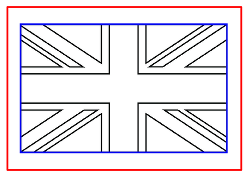 Union Jack & UK Map Template