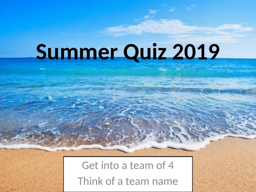 Summer - Best end of term quiz