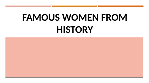 Famous Women and their impact on history