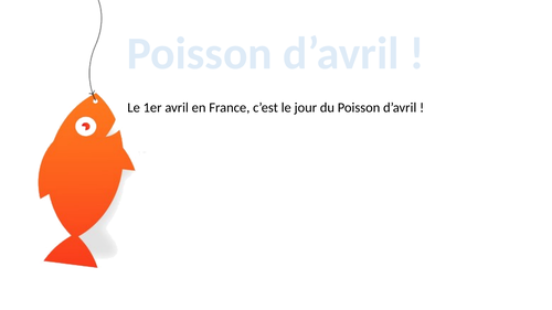 Poisson d'Avril !