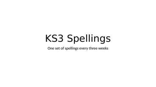 History key word spellings