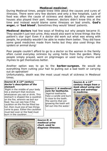 Information sheet on medieval medicine