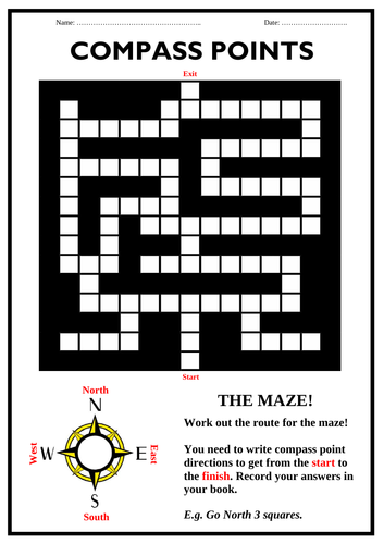 Compass Points - MAZE Activity Booklet