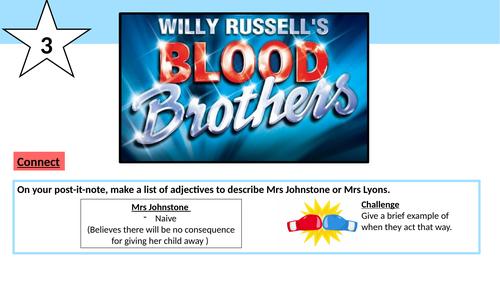 Blood Brothers Mrs J/Mrs L PEEL Paragraphs
