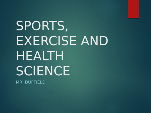 IB DP Sports Exercise and Health Science Topic 3 Complete