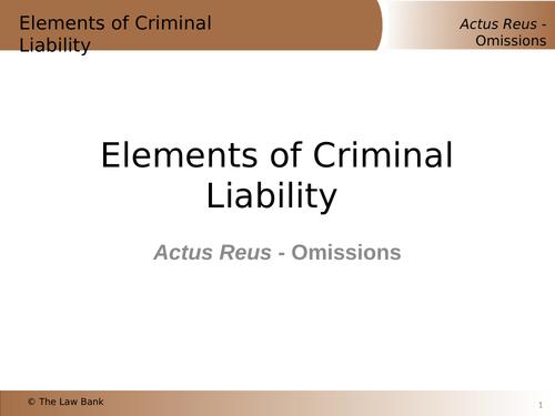 Elements of Criminal Liability