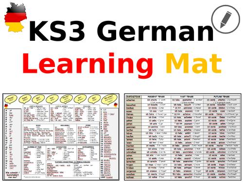 German KS3 Learning Mat